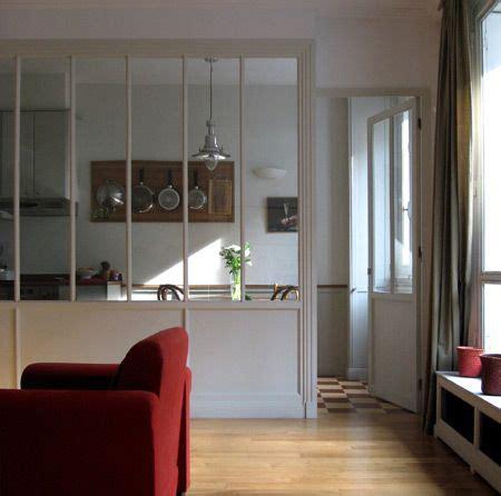 fenetre separation cuisine verriere intérieur séparation cuisine salon à travers la