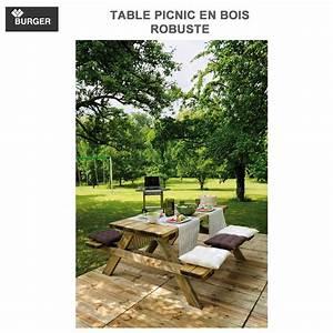 Table Picnic Bois Pas Cher : table picnic bois table picnic bois robuste0100492 burger 8 table pique nique clipper 8 table ~ Melissatoandfro.com Idées de Décoration