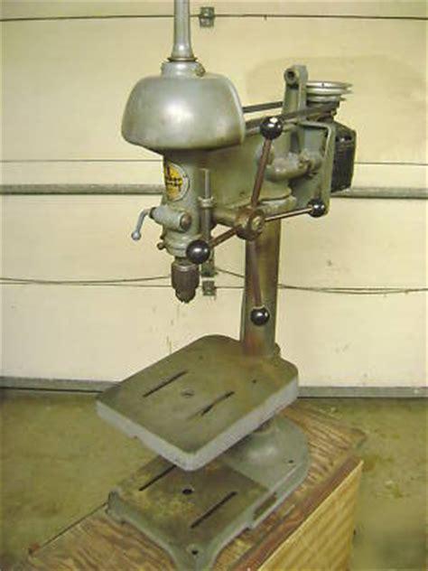 walker turner  series vintage benchtop drill press