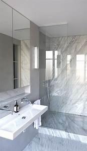 les 25 meilleures idees de la categorie salles de bains With salle de bain design avec vasque en marbre blanc