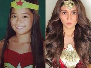 Then and Now Photos of Kathryn Bernardo as Wonder Woman ...