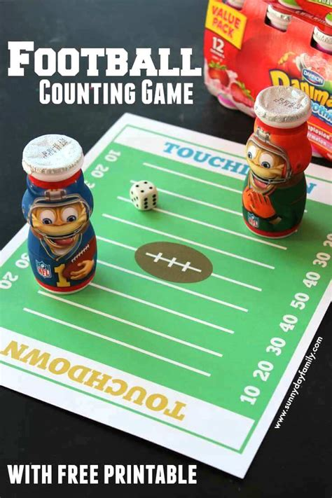 kindergarten football crafts 334 | Football2BCounting2BGame