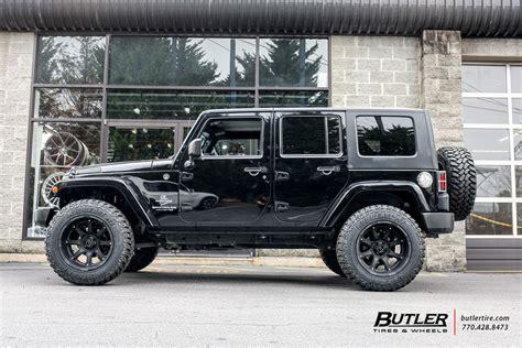 jeep wrangler   black rhino glamis wheels