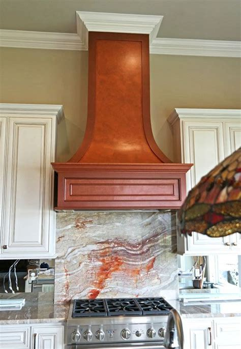 copper metallic paint finish on kitchen range by