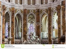 Interior Of Cathedral Our Lady Of Chartres Cathé Stock