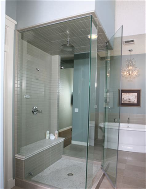 modernize  bathroom   frameless glass shower