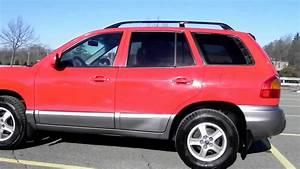 2003 Hyundai Sante Fe Suv 4 Door 2 4l 4 Cylinder Gas Cloth