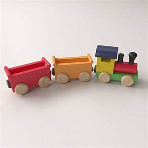 Wooden Toy Train 3D Model 3ds fbx blend dae - CGTrader com