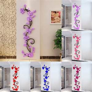 3D Rose Flower Removable Wall Vinyl Decal Art Home Decor ...