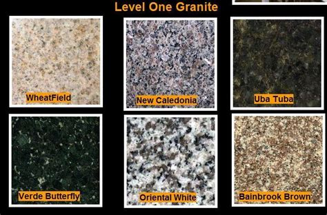 Level 1 Granite Countertop Colors by Pictures For Granite Countertops Nc In