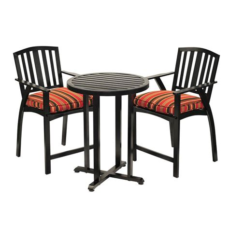 sunjoy avery 3 aluminum patio bistro set with black