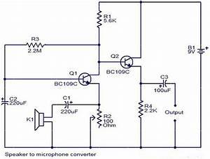 Mini Microphone Circuit Using Bc109c