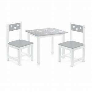 Chaise Et Table Enfant : ensemble table et 2 chaises enfants en bois gris zeller 13490 ~ Teatrodelosmanantiales.com Idées de Décoration