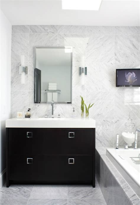 extra wide single black vanity contemporary bathroom
