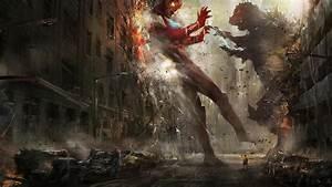 Godzilla vs Ultraman Wallpaper   DigitalArt.io