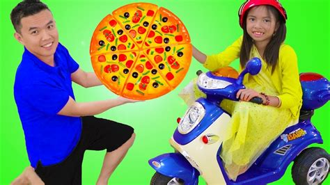 Wendy Pretend Play Kids Pizza Delivery Food Restaurant