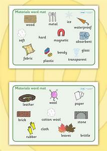 Twinkl Resources >> Materials Word Mat >> Thousands of ...