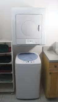 Haier HLP141E HLP21N Combo Washer Dryer Set With Casters