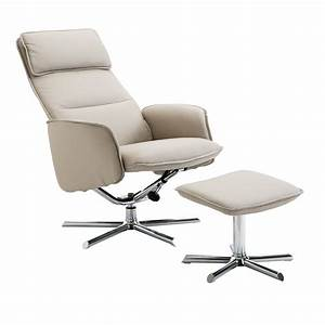 homcom fauteuil relax inclinable pivotant avec repose pied With fauteuil relaxation design contemporain