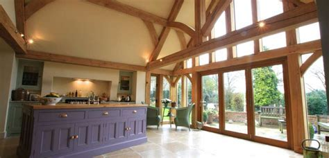 Oak Framed House (Stone & Oak Extensions)   Natural Structures