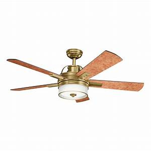 """DECORATIVE FANS 300181BAB Lacey 52"""" Transitional Ceiling"""