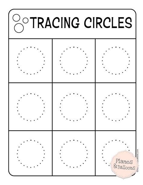 tracing circles worksheets to build a solid writing skills