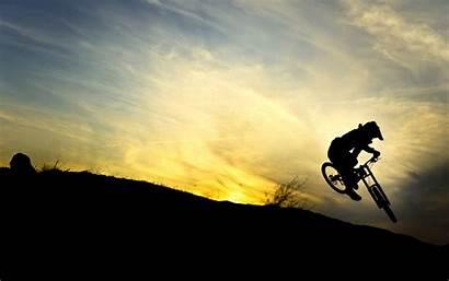 Downhill Mtb Wallpapers Silhouette Biker Wallpapersafari