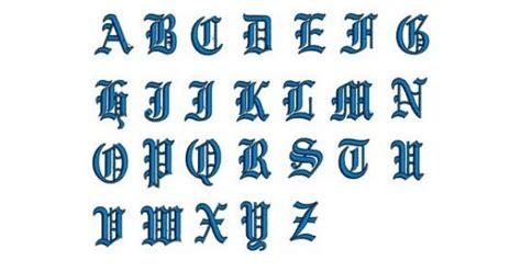 embroidery monogram font script instant   english upper case    files