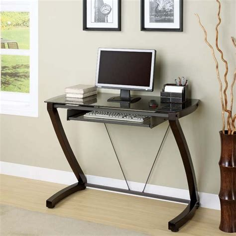 small glass top computer desk small computer desk inoutinterior