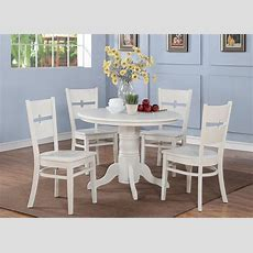 5 Pc Shelton 42 In Round Kitchen Dinette Table & 4 Chairs