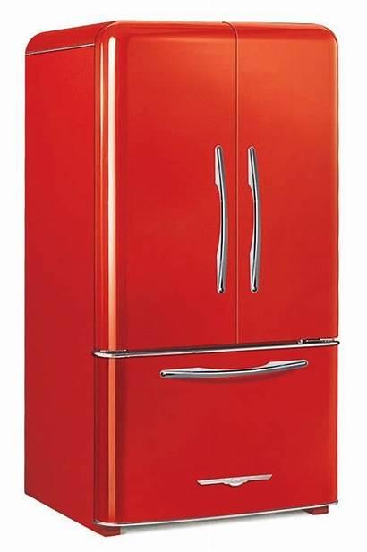 Refrigerator Kitchen Retro Appliances Modern Fridge Door