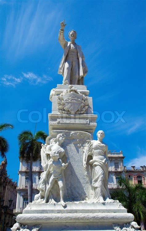 statue  jose marti havana cuba stock photo colourbox