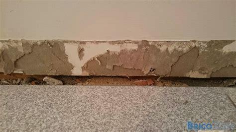 enlever du carrelage au mur rebouchage apr 232 s retrait plinthes carrelage