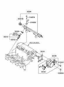 2007 Kia Spectra Throttle Body  U0026 Injector