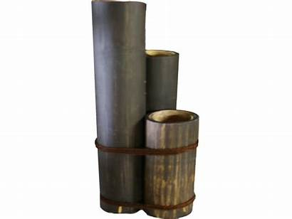 Candle Holders Bamboo 3pc Poles