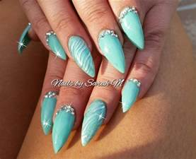 Acrylic stiletto nails nail designs