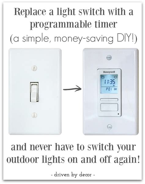 make your outdoor lights turn on automatically at