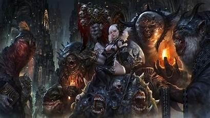 Fantasy Dark 3d Wallpapers Desktop Underworld Uhd