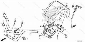 Honda Atv 2014 Oem Parts Diagram For Handlebar