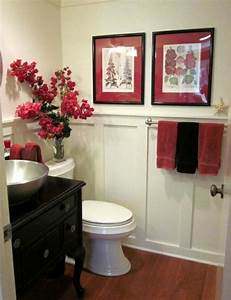 red bathroom decoration one decor With black white and red bathroom decorating ideas