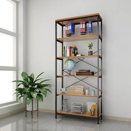 Clearance Bookcase clearance 5 tier wooden bookcase book shelves organizer