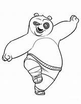 Panda Coloring Pages Fu Kung Printable sketch template