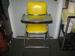 vintage cosco peterson high chair retro folding metal chrome highchair on popscreen