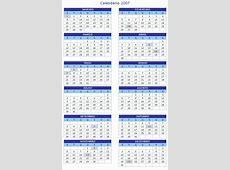 Calendário 2007 Online