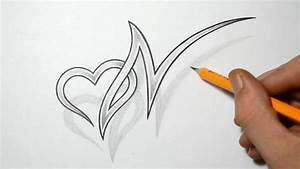 Letter N and Heart Combined - Tattoo Design Ideas for ...