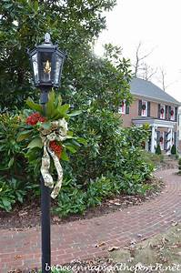 Decorate, A, Lantern, For, Christmas, With, Fresh, Greenery, Ribbon, And, Berries, From, The, Garden