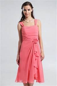 Vetement Femme Pour Mariage : robe corail pour mariage avec fleurs en mousseline ~ Dallasstarsshop.com Idées de Décoration