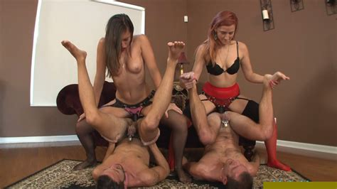 Mistress Is Fucking Her Slave With Strapon Femdom Strapon