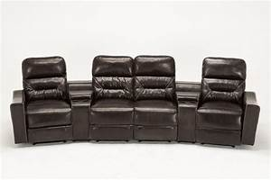 mcombo home theater leather 4 set recliner media sofa w With home theater reclining sectional sofa