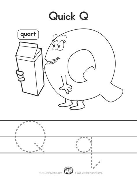 letter buddies coloring worksheet q letter q worksheets 507 | 8f31716a8775046f9f60cb434380cf98